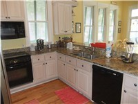 Granite Countertop and Stainless Steel Appliances