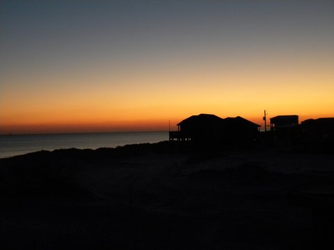 sunset on dauphin island beach