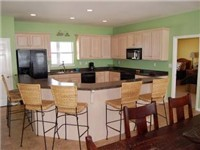 comfortable kitchen with everything needed for a great Dauphin Island beach vacation!