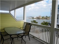 Great water views from this balcony off the living room. Great place to enjoy your morning coffee.