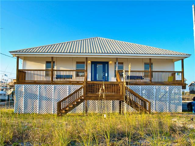 Bienville House- Great Gulf views, and a boat dock, too!  3 Bedrm Home on Boat Canal