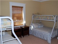 Bunk rooms upstairs sleep kids or adults
