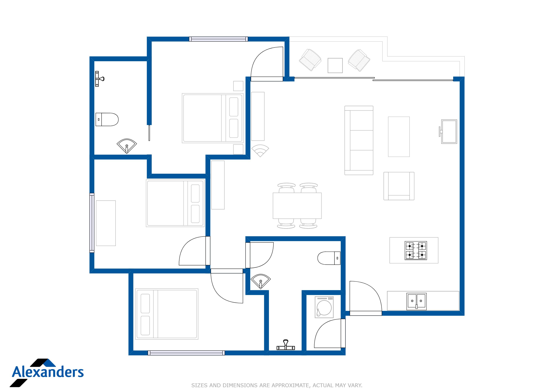 Kamala Hills B301 Floor Plan
