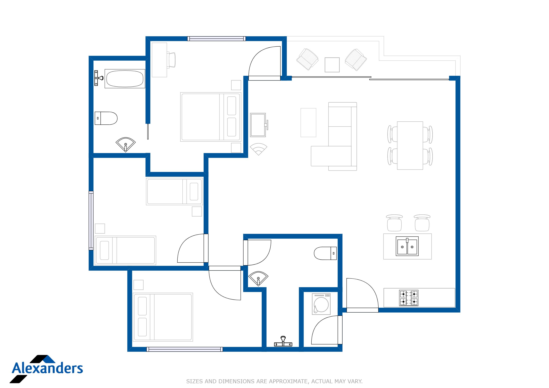 Kamala Hills E302 Floor Plan