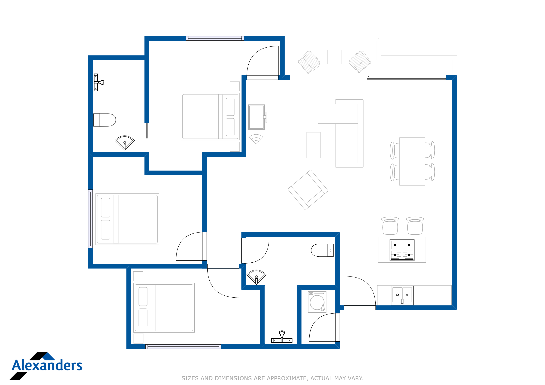Kamala Hills B201 Floor Plan