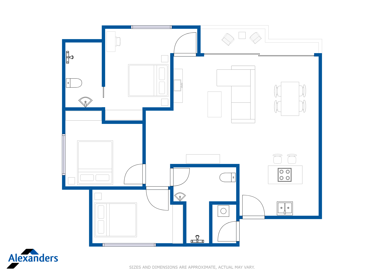 Kamala Hills B101 Floor Plan