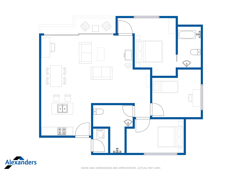 Kamala Hills F202 Floor Plan