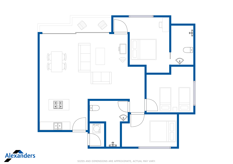 Kamala Hills A302 Floor Plan