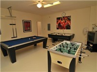 There is a pool table, air hockey, and foosball in the Carousel games room, and again, there is cable TV as well.