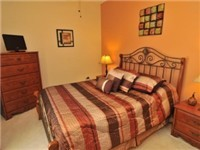 Carousel has one bedroom on the first floor, this Queen size room which has cable TV, and a full bathroom right next door.