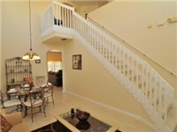 The impressive stairway leads to the second floor, which is where you will find the other 3 bedrooms.