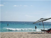 For a large beach, walk five minutes down the Gap to Dover Beach. You can rent an umbrella and beach chair for the day.