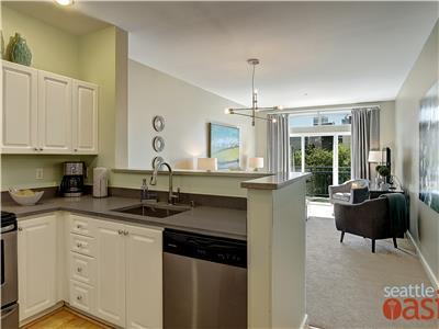 Open floor plans gives feel of space in 600 sq ft.