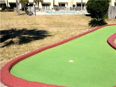 Well maintained miniature golf course.