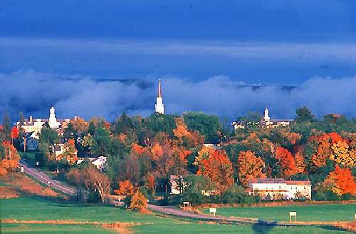 The town of Middlebury in the Fall. A Perfect representation of everything Vermont