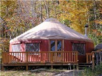 Yurts in Orange