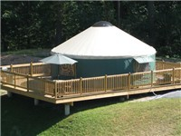 Yurt and deck