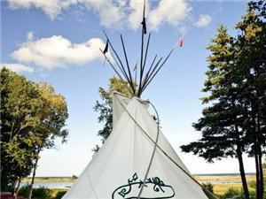 Tipi in Indian Brook