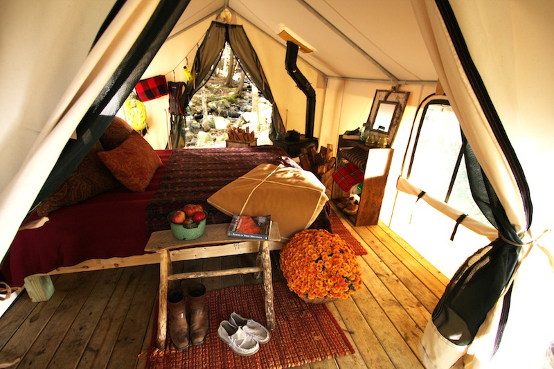 Htt here s the thing glamping the junk drunk for Glamping ideas diy