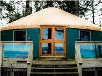 Yurts in Vancouver Island