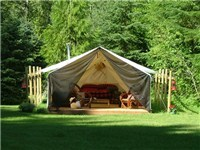 Luxury Tents in slocan park
