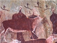 Bushmen Rock Art in Mountain Caves
