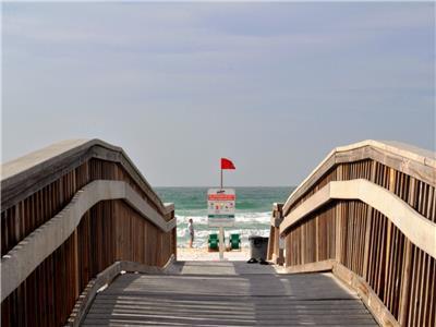 Easy access to beach across boardwalk!