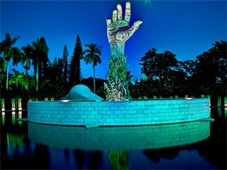 Memorial Hand in the Garden of Meditation