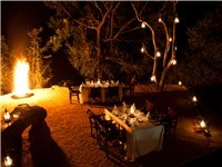 Dining in the Boma, together or in smaller groups