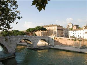 Bridge to Tiber Island ( Isola di Tibere)