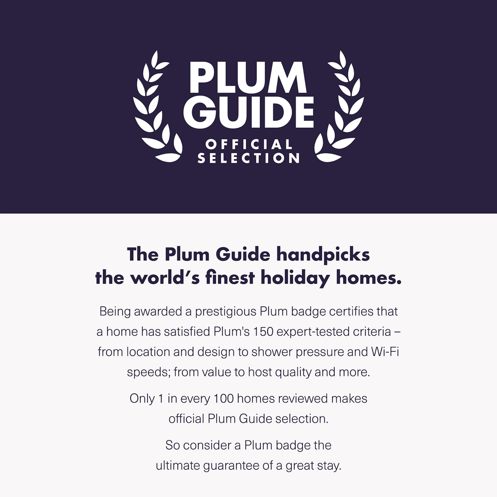 Plum Guide Official Selection