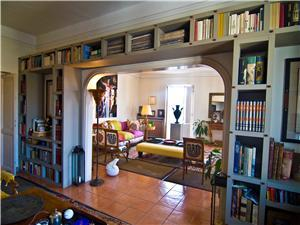 A Book-case Divides the library from sitting room