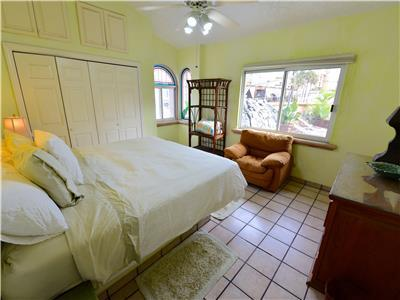 The second bedroom has a King size bed