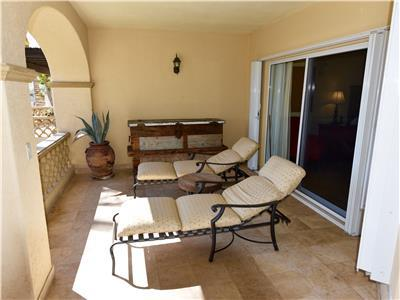 Terrace is furnished with lounge furniture