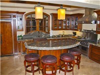 Kitchen Bar with granite counter tops