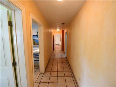 Looking down hallway towards the kitchen