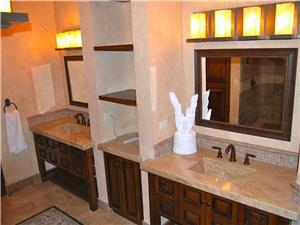 Master Bathroom has His and Hers vanity and sink