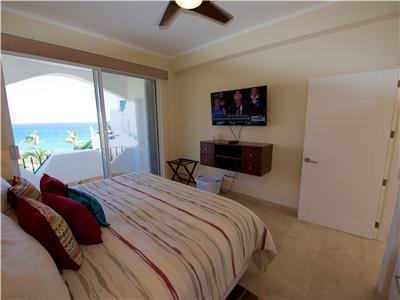The bedroom has ocean view and terrace
