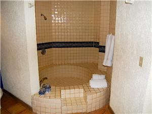Large shower bathtub combo in the master bath