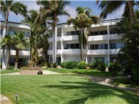 Mira Vista condos has tropical landscaping