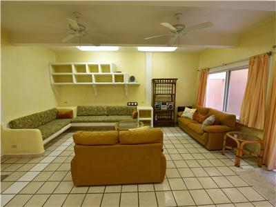 Plenty of hangout room down in the casita