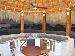 Entertain in the swim up palapa bar!