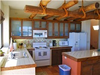 Kitchen has all appliances and utensils