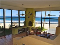 Living Room has panoramic views of Sea of Cortez