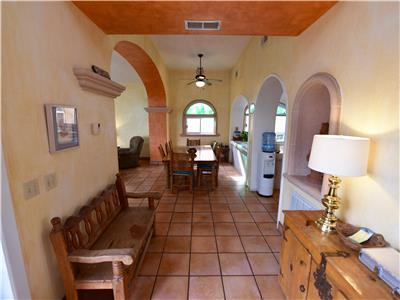 Entry way to Casa Bonita looking at dining room