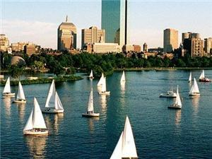 Charles River is a 5 -7 minute walk