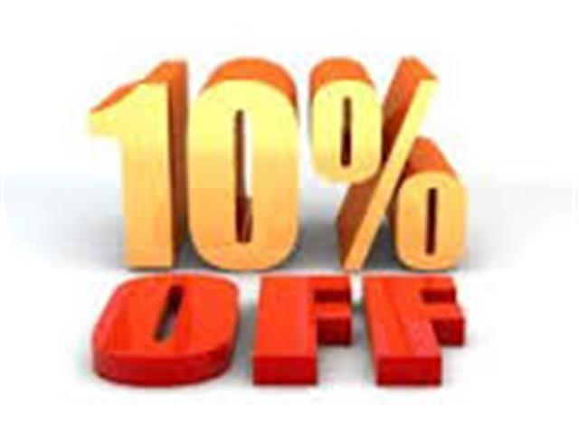 Receive an additional 10% off