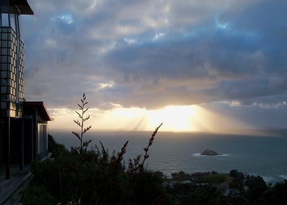 muriwai beach holiday home view