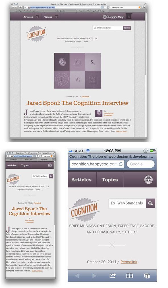 Cognition - Happy Cog's Responsive Design