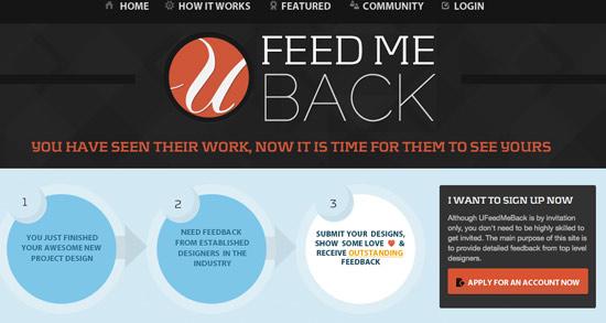 U Feed Me Back Header Image
